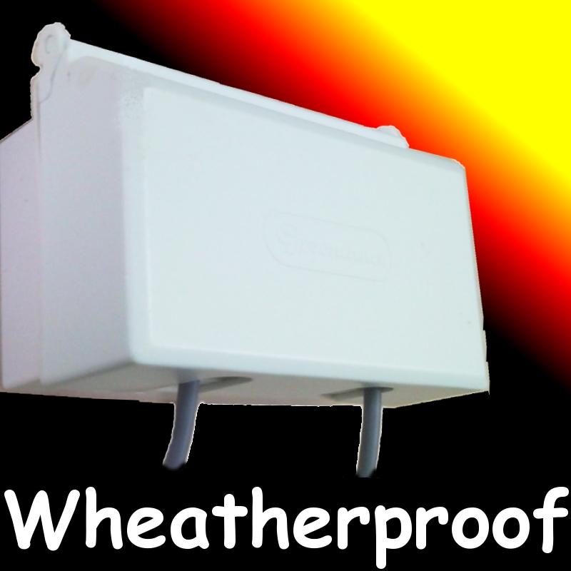 Weatherproof Outdoor Double Switch Socket Cover Wet Dust